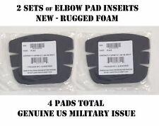 ELBOW KNEE PAD INSERTS PADS US ARMY COMBAT UNIFORM ACU USGI TACTICAL NEW 2 PAIRS