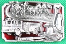 "Belt Buckle ""Fire Brigade"" 3.8cm Wide Belt, Custom Made, DIY, Metal Casting."