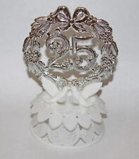 NEW Wilton Silver 25th Anniversary Party Cake Cupcake Topper Decorating
