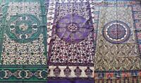 NEW BLOCK PRINTED COTTON BED SPREAD 6 SEATER TABLE CLOTH SINGLE THROW 135*195CM