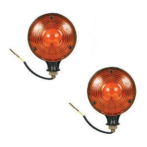 2 Amber Safety Warning Light Pair 12V Fits Massey Ferguson Tractors & Equipment