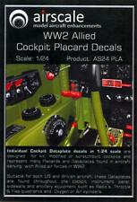 Airscale Decals 1/24 ALLIED World War II COCKPIT PLACARDS