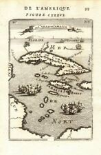 WEST INDIES. Cuba Jamaica Cayman Islands. Florida on horizon. MALLET 1683 map