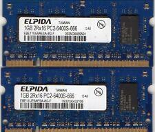 NEW 2GB 2x 1GB Kit Lenovo 3000 C100/C200/N100/Y400 DDR2 Laptop/Notebook Memory