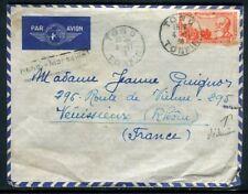 Indochine - Enveloppe de Tong pour la France en 1938 par avion -  Référence J 48