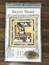 Silent Night by Nancy Halvorsen Art to Heart Wall Hanging Applique Sheep Angels