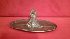 Unique vide-poches en bronze Art Nouveau femme-pieuvre superbe état belle patine