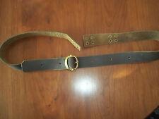 "Musket Sling 1 1/4"" Brass Buckle18thcenturyRepro Brown Tie"