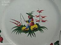 jolie assiette de l'est 19ème au chinois pêcheur