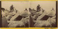 Saint-Herbot Rochers Francia Foto Stereo Vintage Citrato Ca 1900