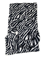 Mainstays 50inx60in Soft Fleece Throw Blanket Zebra Stripe Pattern