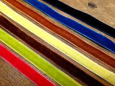 """Vintage 3/8"""" Velvet Ribbon Rayon Trim 3 yds Made in France"""