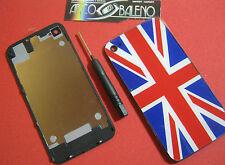 Kit COVER POSTERIORE RETRO pr APPLE IPHONE 4 4G+GIRAVITE FLIP BATTERIA VETRO  UK