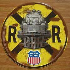 UNION PACIFIC 4002 STEAM ENGINE TRAIN RUSTIC RAILROAD CROSSING SIGN DECOR - NEW