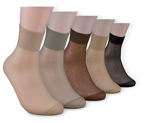 10 Paar Fein Söckchen Socken Komfortrand verstärkte Spitze 20 den perle natur
