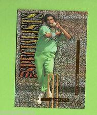 1996/97 FUTERA CRICKET CARD TS12  WASIM AKRAM #0365