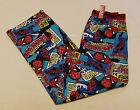 Marvel Comics Spiderman Mens Blue Printed Cotton Sleep Pants Size S New