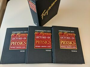 The Feynman Lectures on Physics Commemorative Issue Vol 1 - 3 Set with Box 1989