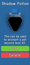 Bubble Gum Simulator - 30 x Shadow Potion - Enchant Past Level 40