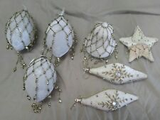 Hand decorated Christmas Ornaments/Balls/Globes (Assortment of 7 pieces)