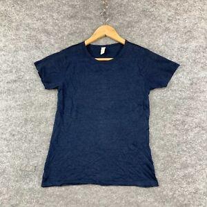 Tigerlily Womens Linen T-Shirt Top Size 6 Blue Short Sleeve Round Neck 292.12