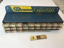 Vintage GC STACKPOLE 60 Line Carbon Resistor Display Cabinet w/ 1W 2W Resistors