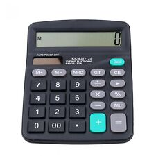 Digital Electronic Calculator With Big Button Home Office School 2 in 1 Power