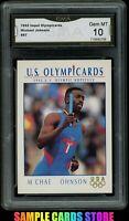 1992 Impel Olympicards #87 Michael Johnson RC Graded GMA 10 GEM MINT (PSA 10?)