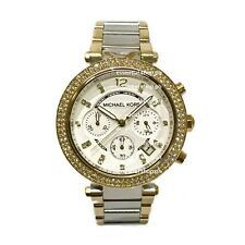 Michael Kors Parker Midsize Two-Tone Gold/Silver Chronograph Watch MK5687