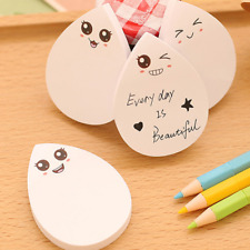 Lovely White Raindrops Memo Sticker Bookmark Marker Post Sticky Notes Stationery