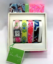 Vera Bradley Watch Set Java Blue Petal Pink Citrus Hope Toile 2006 New Gift Box