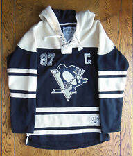 FLEECE HOCKEY JERSEY HOODIE, PITTSBURGH PENGUINS, SIDNEY CROSBY, SIZE: MEDIUM