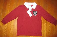 Boy's Gymboree Rugby Long Sleeve Shirt 4 Brown/Rust Skull Arrr! New NWT