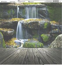 Reminisce - Waterfall Landscape Scrapbooking Paper 12x12
