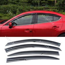 Sun Rain Visor Window Shield Deflector Guard fit For Mazda 3 Axela 2014-2019 4pc