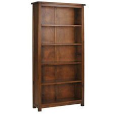 PREMIUM YORK TALL 5 SHELF BOOKCASE- SOLID PINE- DARK ANTIQUE BROWN- VINTAGE