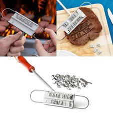 Bbq Outils Barbecue Viande Steak Burning Marks Anglais lettre timbre de marque Mold