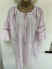 Victorias Secret Nightshirt Pyjama Top Nightwear Ladies M Medium Pink Eyelet