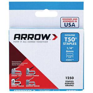 Arrow Genuine 6mm T50 Staples - ART50A06
