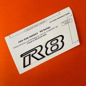 VE VF HSV R8 Gloss Black Clubsport Maloo Boot Badge