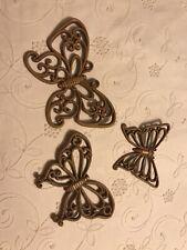 Homco Lot Of Wicker Look Butterfly Wall Hangings