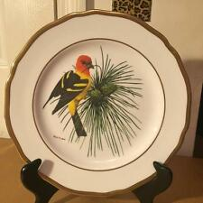 THE WESTERN TANAGER SPODE BONE CHINA AMERICA SONGBIRD PLATE - RAY HARM