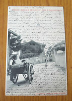CARTOLINA PIANEZZA INGRESSO AL PAESE RARA VIAGGIATA 1904 SUBALPINA ZZ