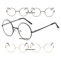 Round Metal Frame Nerd Reading Glasses Round Style Strength +0.0 to +4.0 UKStock