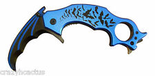 Batman Knife Karambit Hawkbill Tactical Assisted Opening Folding Blade BLUE
