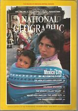 National Geographic August 1984 Mexico City/Japan Alps
