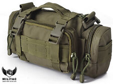 Green Molle Bum Bag / Military Army Fanny Pack / Multi Pocket Waist Pack