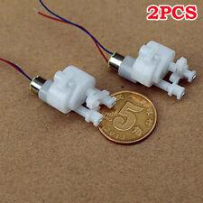 2pcs Dc6v 12v 1000rpm Mini Tiny 6mm10mm Coreless Gear Motor Swing Arm Hobby Toy