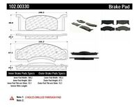 Disc Brake Pad Set-Disc Front Centric 102.00330