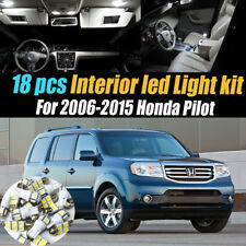 18Pc Super White Interior LED Light Bulb Kit Package for 2006-2015 Honda Pilot